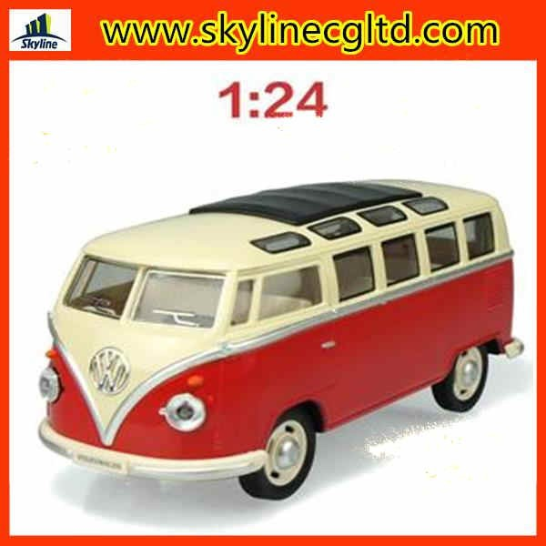 2015 new arrival china 1 24 scale license diecast mini VW T1 retro bus model