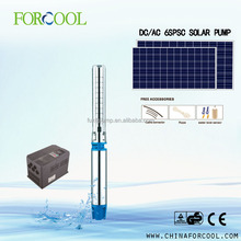 Forcool 6inch high pressure water pump powered by solar energy