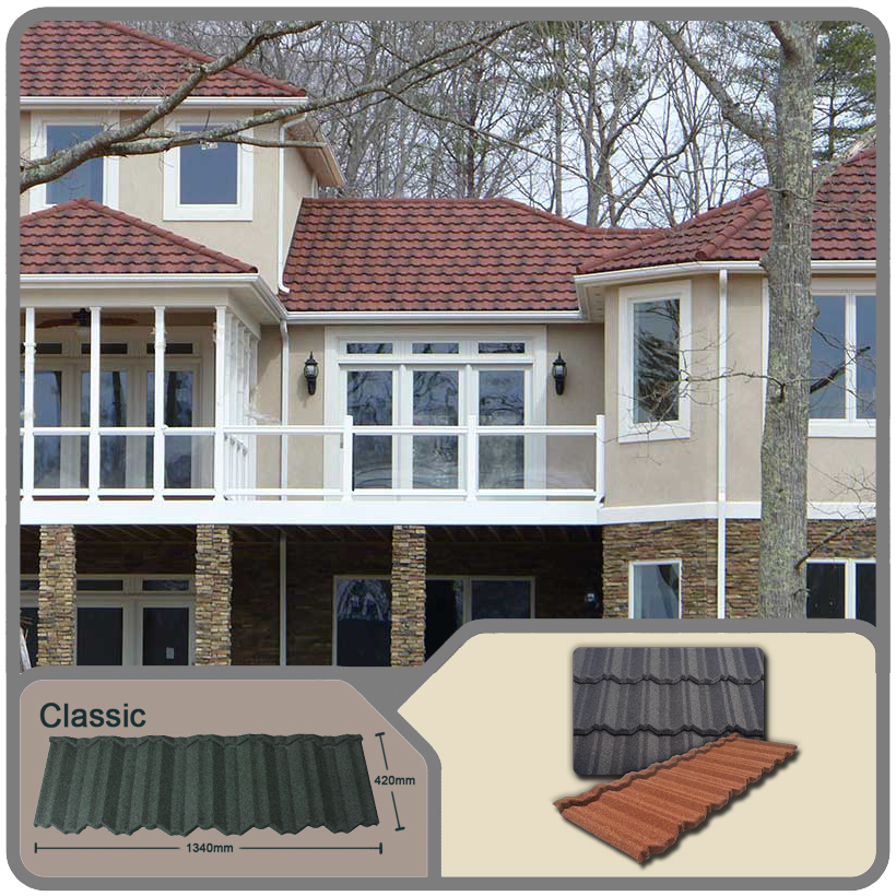2015 Guangzhou high quality classical stone coated metal roof tiles suppliers/terracotta red spanish roof tile roofing sheets