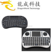i8 2.4g mini wireless backlit keyboard with touchpad for android tv box mini backlit keyboard i8