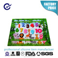 Yuanrong Children feeling silicone table mat embossed numbers baking mat full printing placemat