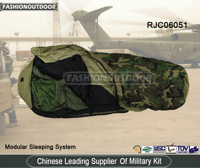 4 Piece Military Modular Sleep System US Marine Corp Sleeping Bag Tennier industries