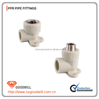 M&F thread PPR pipe fitting 90 degree elbow wiyh seat