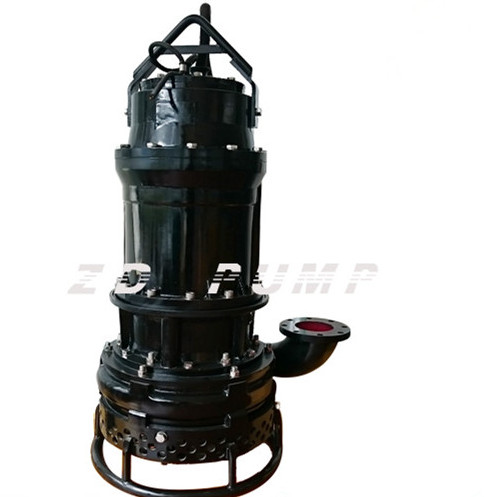Vertical submersible sand dredger pump with cutters or agitators