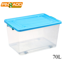 2018 pinyaoo New products multi purpose waterproof plastic storage boxes 70L