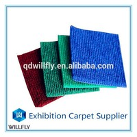 Polyester needle punch velour exhibition carpet for wedding, show, car ,hotel and other places