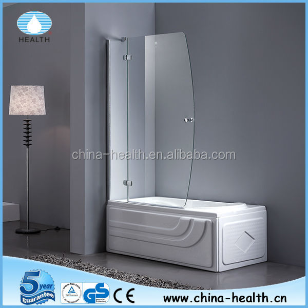 Glass folding bath shower screen JK118