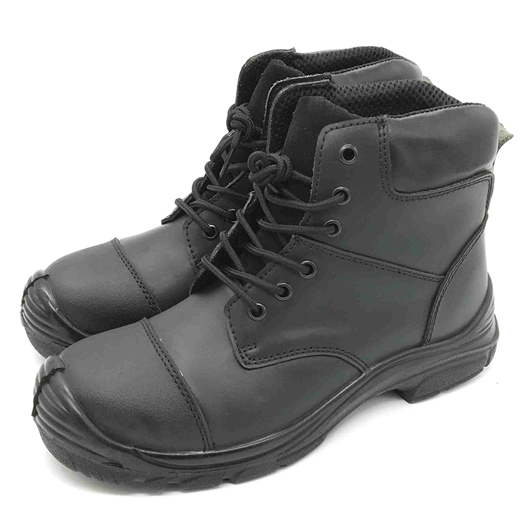Factory Sale Durable Cow Leather Industrial Safety Shoes For Men