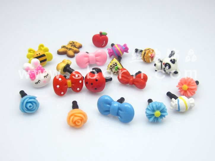 dust plug cap for mobile phone wholesale cute cell phone dust plug