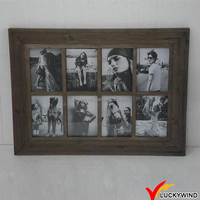 Barn Wood Shabby 8 Aperture Picture Photo Collage Frame