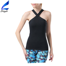 Lotsyle Sexy Stylish V Neck Design Sport Clothing Ladies Yoga Tank Tops Active Wear