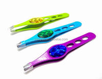 squared stainless steel tweezer with color paiting and decorating epoxy
