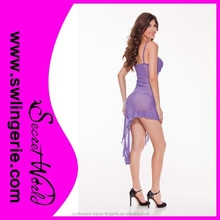 Wholesale Ladies Purple Sexy Transparent Night Gown