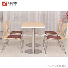 Table and Chair Sets Chair with Soft Cushion Fast Food Restaurant Furniture