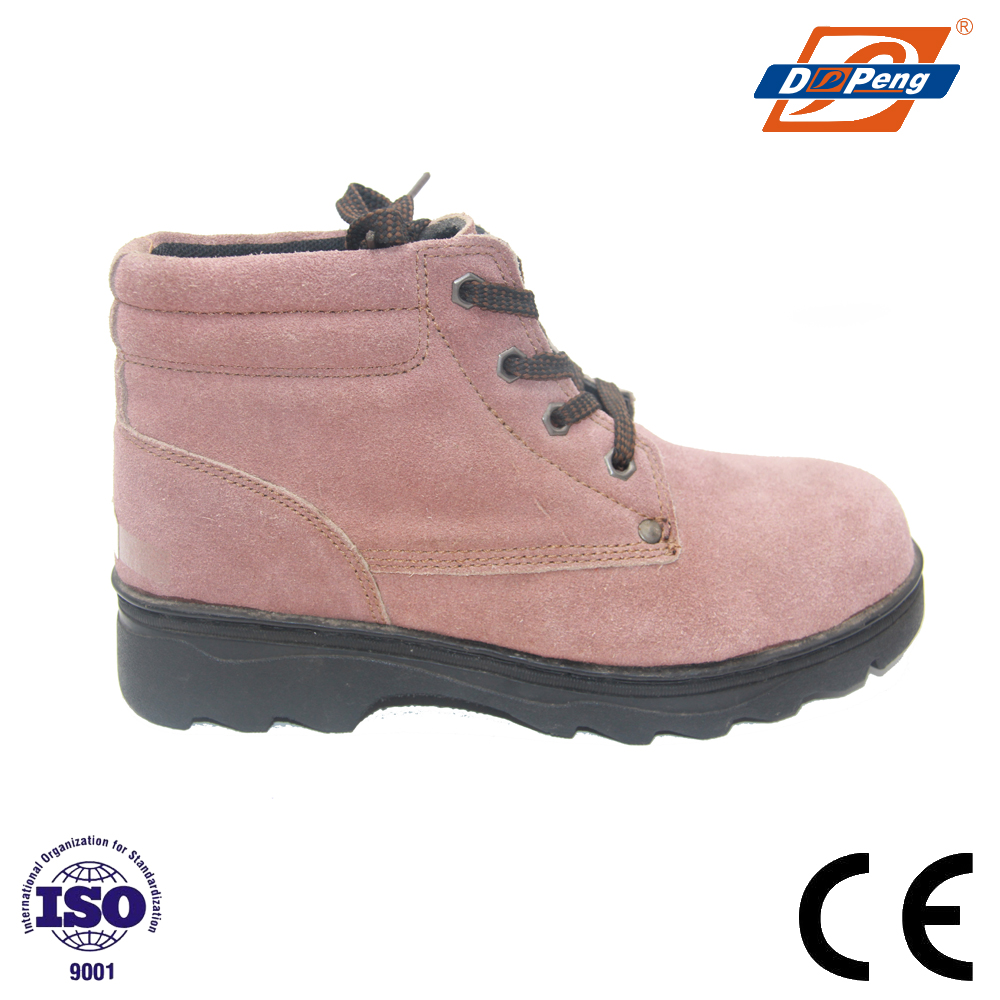 high quality EN20345 industrial working casual pink safety shoes