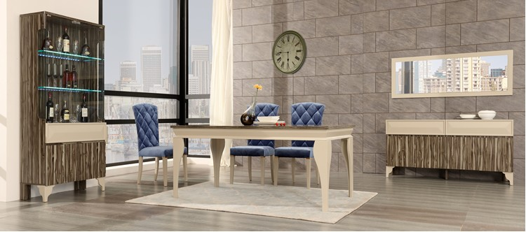 modern glass dining table 6 chairs set