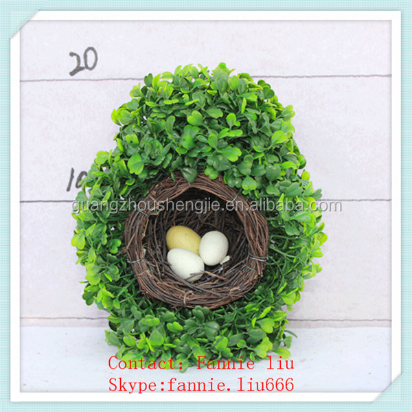 LF090452 Artificial topiary bird's nest/artificial boxwood spiral hedge/plastic boxwood hedge