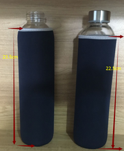 glass water bottle with fabric cover 750ml