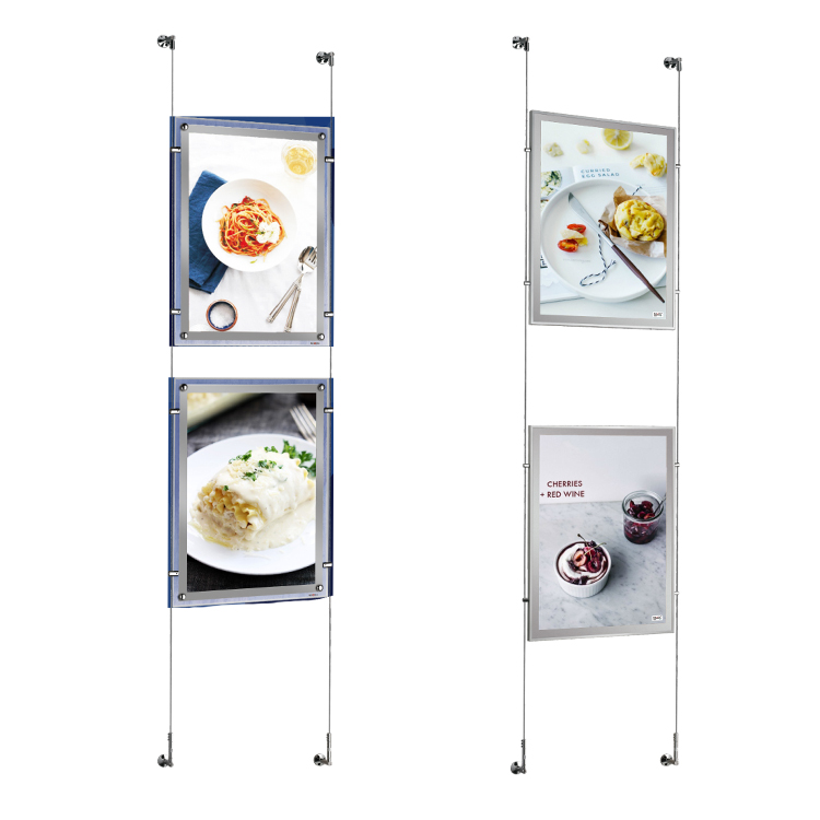 <strong>A0</strong> hanging restaurant menu board or picture frame acrylic photo frame <strong>slim</strong> crystal <strong>LED</strong> <strong>light</strong> box for advertising display