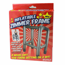 Inflatable Zimmer Walking Frame Blow Up Toy Novelty Joke Dress Up Night Fancy Accessory