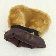 Brown Synthetic Lambs Wool / Sheepskin Car Wash Mitt