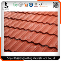 1340mm 420mm Shingle Sheet Stone Coated Metal Roofing Sheet Made in China