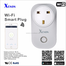 Smart home Xenon timer Uk wifi power socket plug outlet,smart phone Wireless Controls domotica Works with Amazon echo Alexa