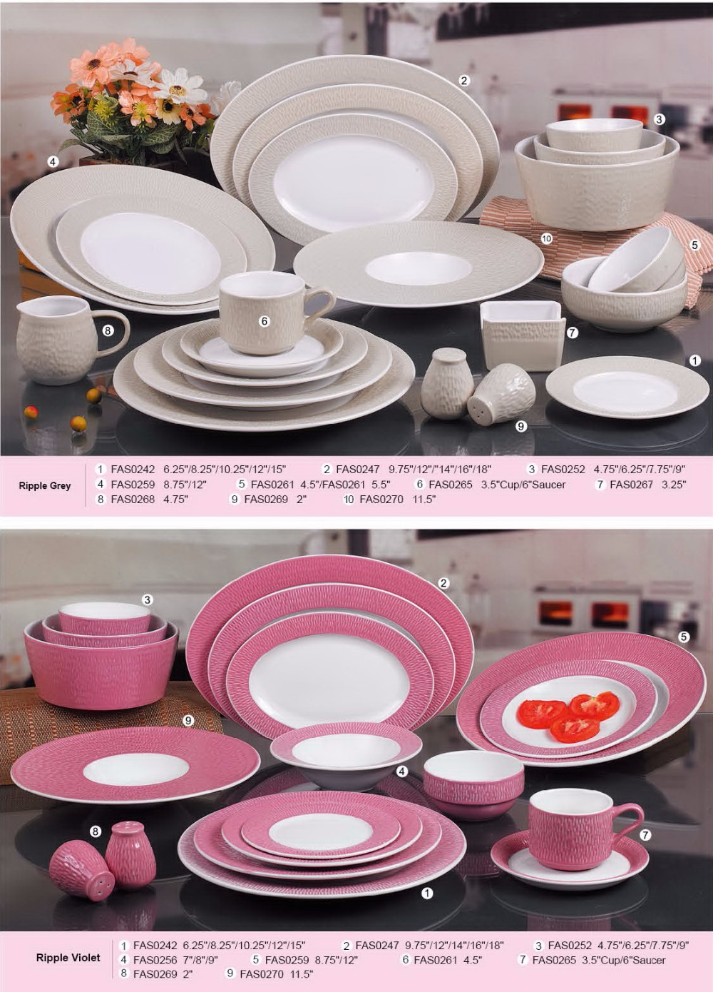2016 Latest New Color Glaze Porcelain Dinner Set with Popular Design