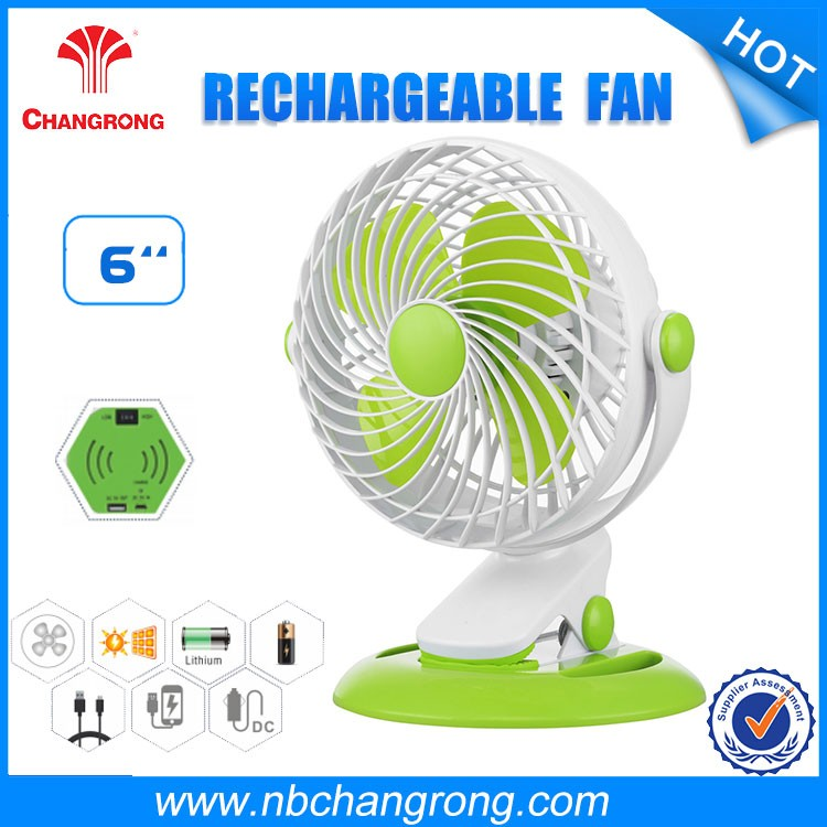 Plastic USB Rechargeable Portable Mini Handheld Fan 3AA batteries
