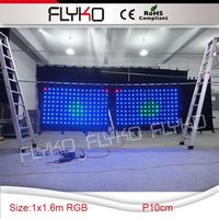 alibaba two for one strong led video curtain with SD controller