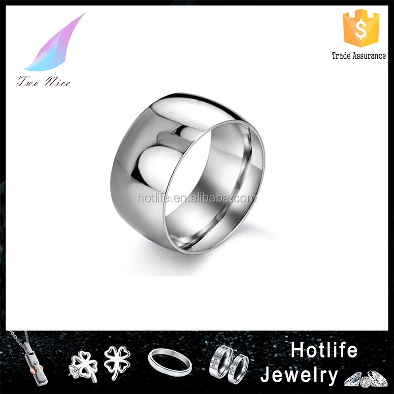 customized jewelry engraved name plain unique souvenir stainless steel flat ring