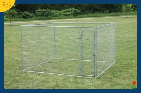 Chain Link Dog Kennel Extra Large XXL Kennels For Dogs Outdoor Pets 10x10x6 Runs