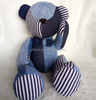 Stuffed plush doll toys jean bear plush toy custom made special bear toy