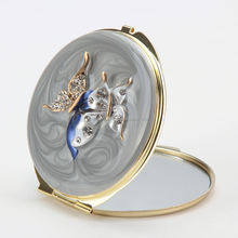 flower shaped mirrors novelty ladies heart shaped compact mirror double side mirrors