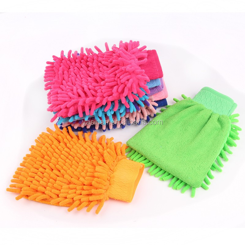 washing mitt , TR005, promotional multifunctional micro fiber car cleaning glove