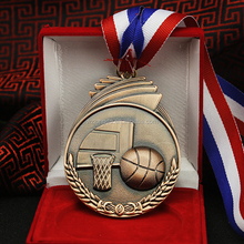 cheap high quality printing stock Basketball sports metal medal