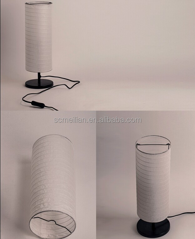 Column Shape Table Lamp Bedside Light