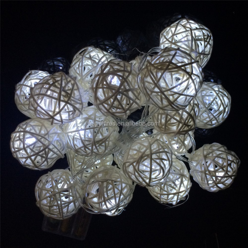 indoor for wedding christmas holiday party decoration cane ball bettery solar led string light