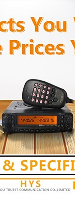 HYS Dual Band Programmable Scan Fm Car radio Transceiver