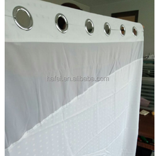 100% polyester waterproof hookless shower curtain for hotel
