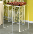 transparent u shape acrylic bathroom side table