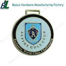 Quality hard enamel golf tag medal for members