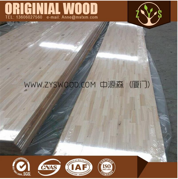 The wood finger joint replace type rubber wood finger joint board