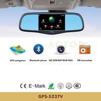 5 inch capacitive touch panel car mirror for great wall Built in Bluetooth Handsfree, GPS HD DVR