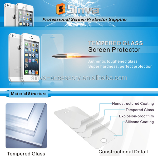 sinva Wholesale for iPhone 6 Ultra Thin temepered glass screen protector with design, experience to make OEM package