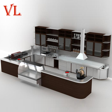 VL915 new design hot food warmer display counter for coffee and food shop
