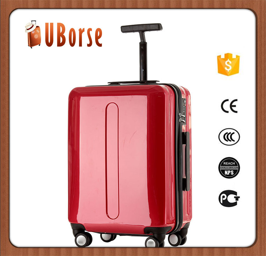 UBORSE 20 INCH PC hard case travel trolley luggage with zipper frame