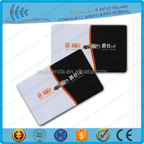 125khz CR80 rfid contactless smart EM4102 card with high quality