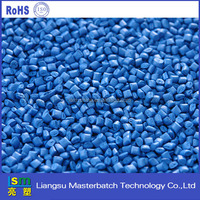 high pigment sky blue plastic masterbatch/blue plastic sheet in rolls
