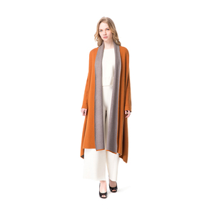 High Quality Cheap Elegant Custom Wholesaler Double Face Long Cardigan For Ladies